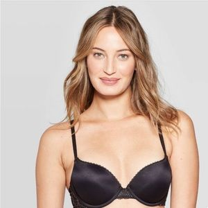 Auden Target Army Green Plunge PushUp Lace Bra 34D